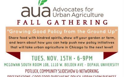 AUA Fall Gathering Tues, Nov. 15th!