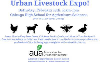 Join AUA's Winter Gathering & Urban Livestock Expo on Saturday, Feb. 18!
